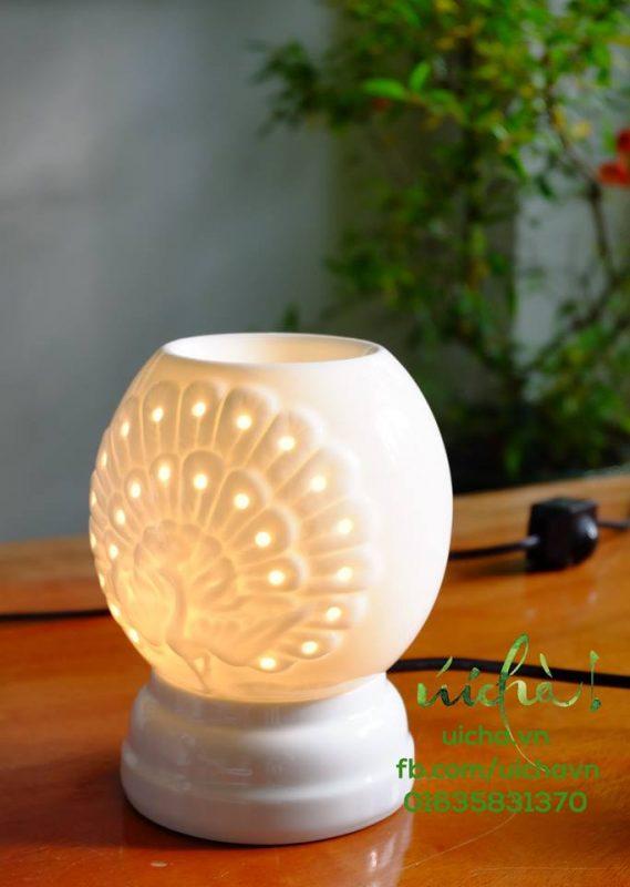 Đèn công trắng xông tinh dầu